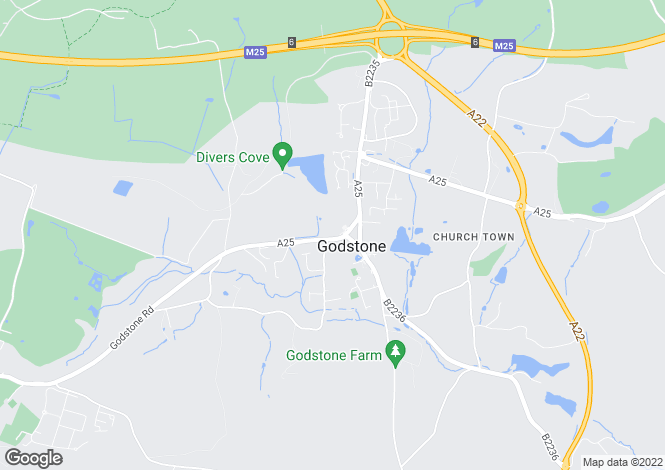 Map for Bletchingley Road, Godstone, RH9