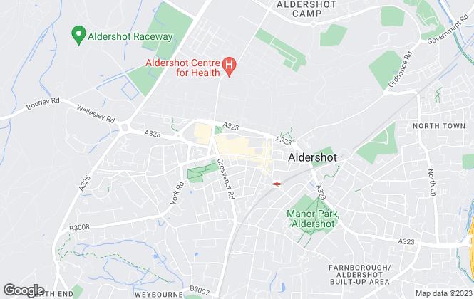 Map for Fosters Estate Agents, Aldershot