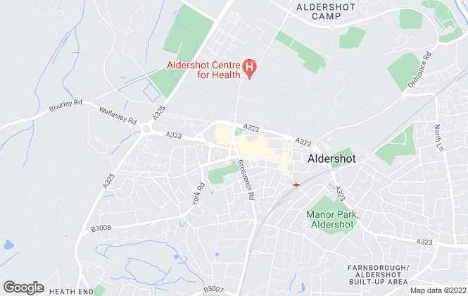 Map for Beacons Sales and Lettings, Aldershot
