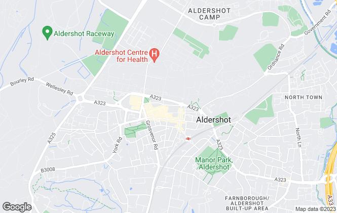 Map for Bridges Estate Agents, Aldershot