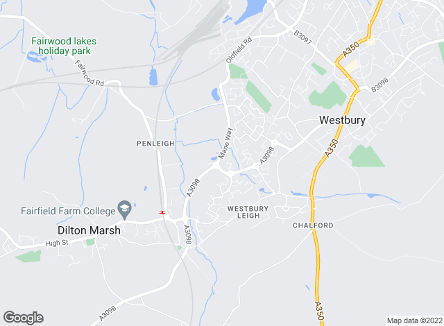 Map for Martin & Co, Westbury - Lettings & Sales