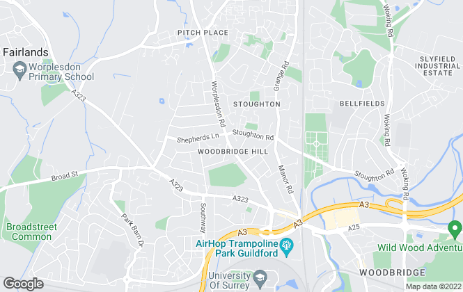 Map for Cobbles Estate Agents, Guildford