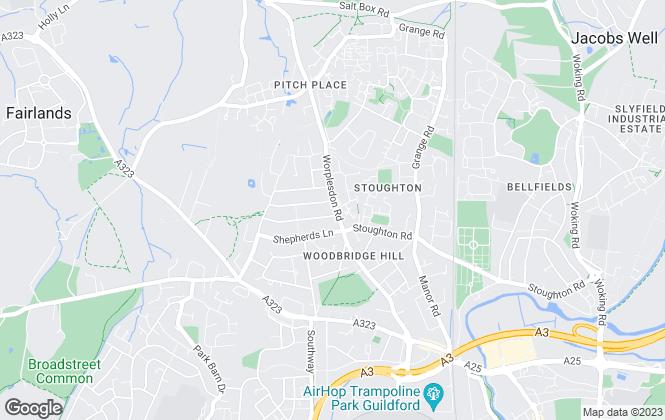 Map for Seymours, Worplesdon Road