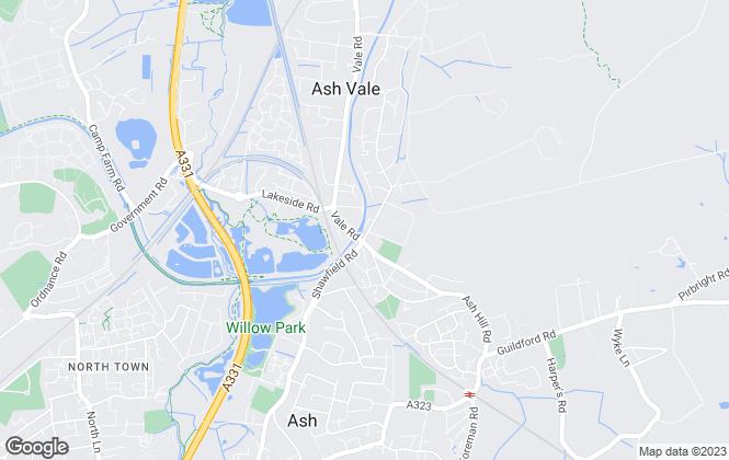 Map for Bridges Estate Agents, Ash Vale