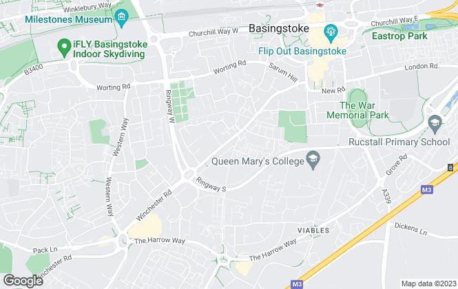 Map for Oliver Thorne, Basingstoke
