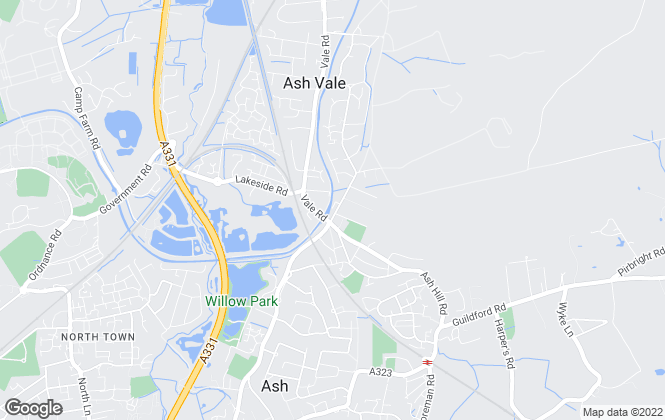 Map for Bridges Estate Agents, Ash Vale