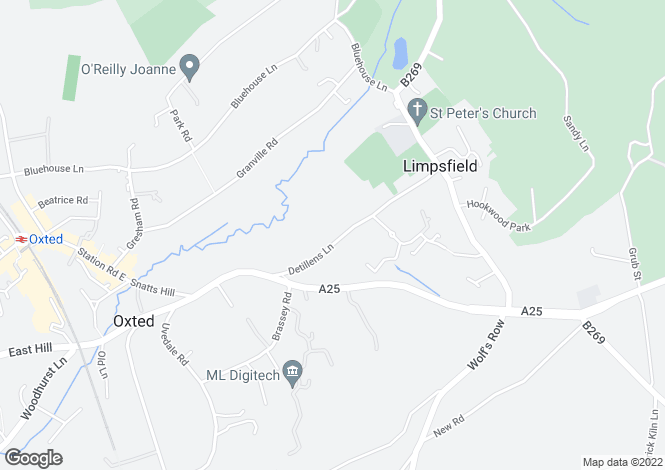 Map for Oxted, RH8, Oxted
