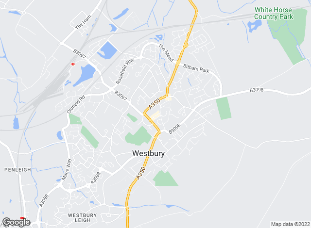 Map for Wilsons Estate Agents, Westbury