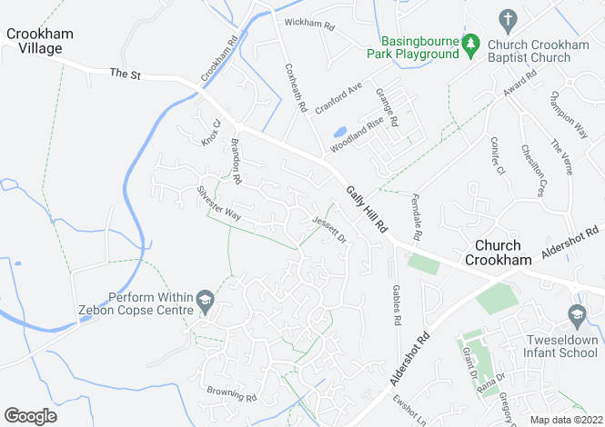 Map for Jessett Drive, Church Crookham, Fleet, GU52