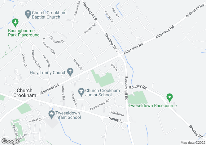 Map for Azalea Gardens, Church Crookham, Fleet