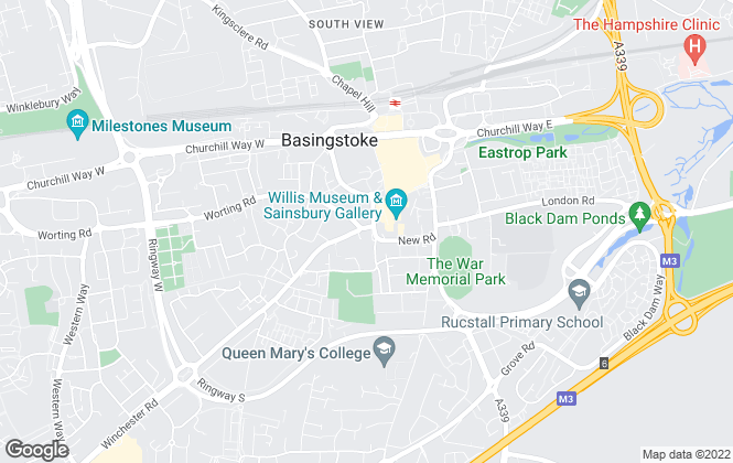 Map for Arlington Square, Basingstoke