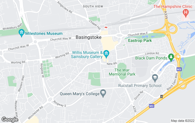 Map for Oliver Thorne, Basingstoke