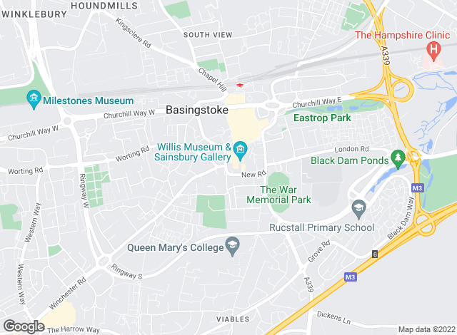 Map for Gascoigne-Pees, Basingstoke