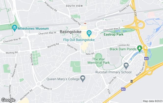 Map for Gascoigne-Pees Lettings, Basingstoke