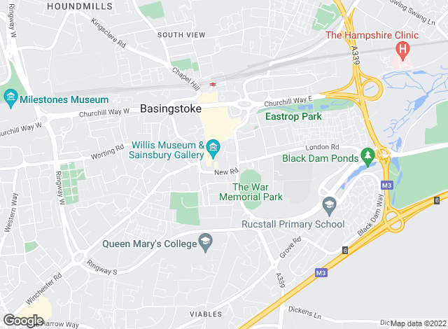 Map for Martin & Co, Basingstoke