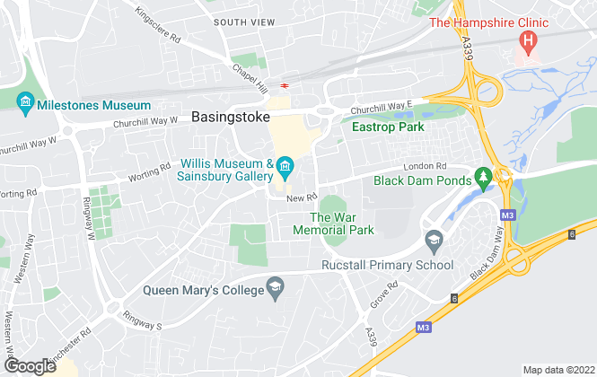 Map for Martin & Co, Basingstoke - Lettings & Sales