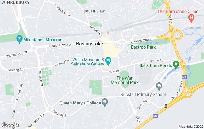 Map for Your Move , Basingstoke