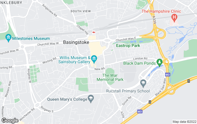 Map for Woodford & Co - Commercial Agents, Basingstoke