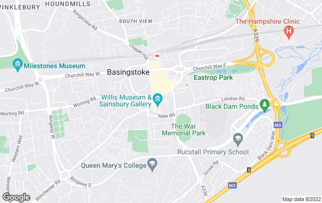 Map for Connells Lettings, Basingstoke