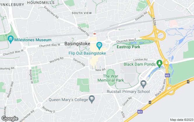 Map for Connells Lettings, Basingstoke - Lettings