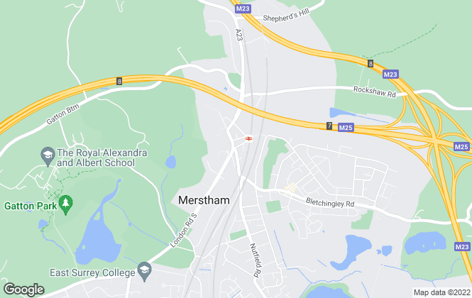 Map for Thomas & May, Merstham
