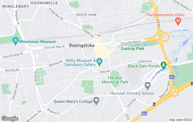 Map for White & Russell, Basingstoke
