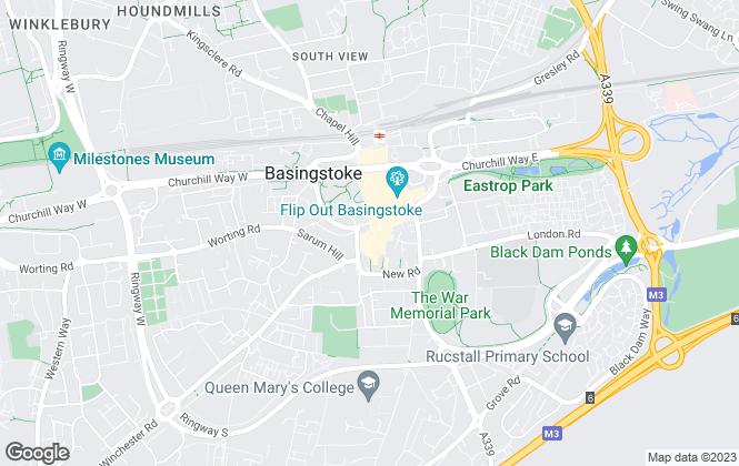 Map for White & Russell, Basingstoke