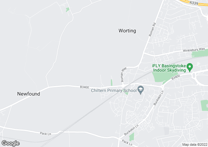 Map for Church Lane, Worting, Basingstoke, Hampshire, RG23