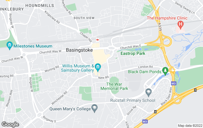 Map for Carson & Co, Basingstoke