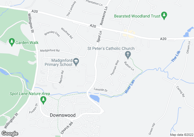 Map for Spot Lane, Bearsted, Maidstone ME15