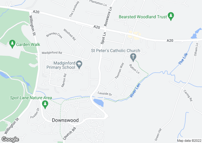 Map for Spot Lane, Bearsted, MAIDSTONE