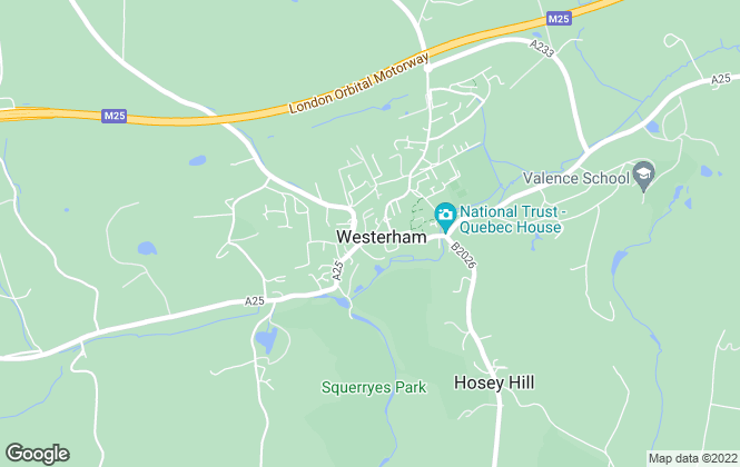 Map for Ibbett Mosely, Westerham