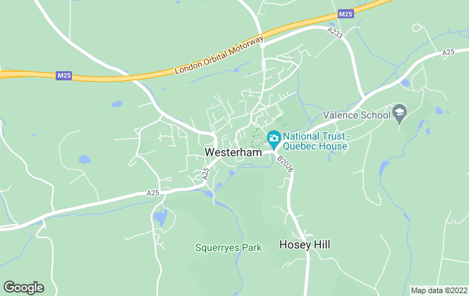 Map for Karrison Property, Westerham