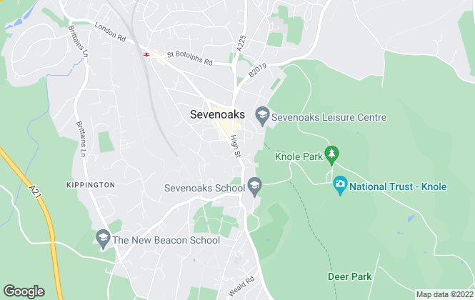 Map for Savills Rural Sales, Sevenoaks