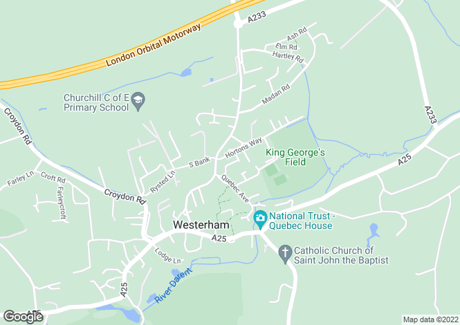 Map for Atterbury Close, Westerham, TN16