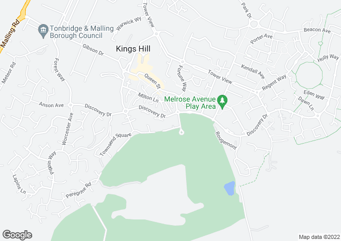 Map for Cleeve Court, Kings Hill, West Malling, Kent, ME19