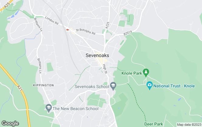 Map for Strutt & Parker, Sevenoaks