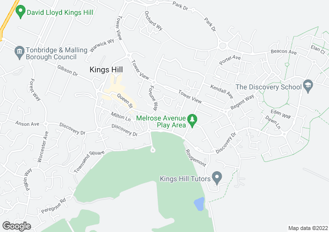 Map for Braeburn Way, Kings Hill, Kings Hill
