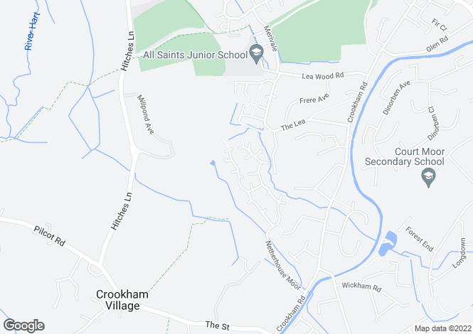 Map for Swan Way, Church Crookham, Fleet, Hampshire, GU51