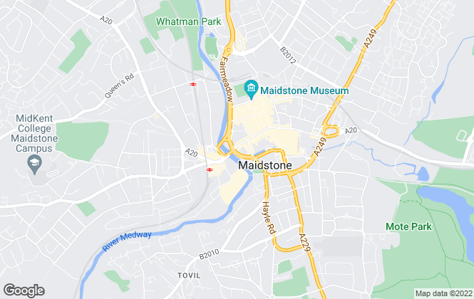 Map for Seekers, Maidstone - Sales