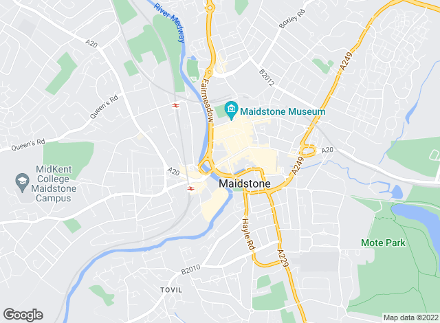 Map for Mann Countrywide, Maidstone