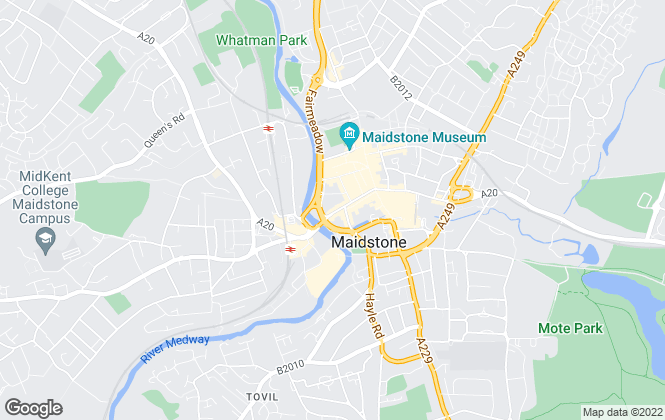 Map for Mann , Maidstone