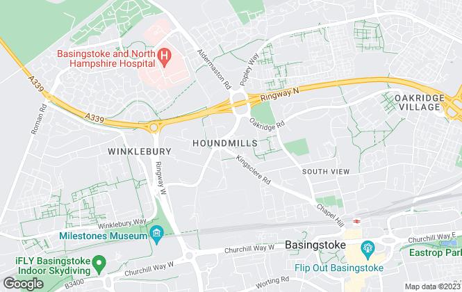 Map for VIVID, Basingstoke