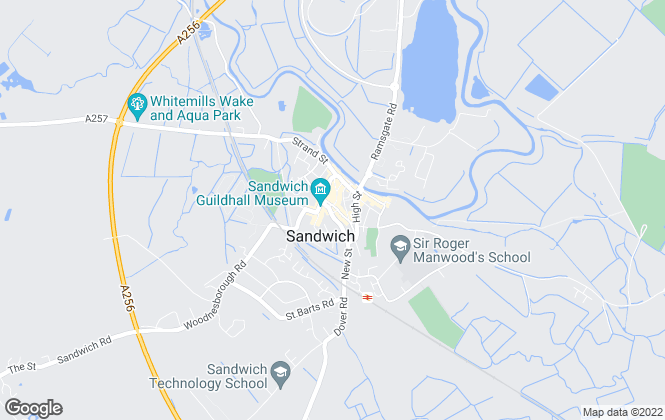 Map for Finn's, Sandwich