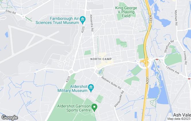 Map for Hollis Hockley, Farnborough