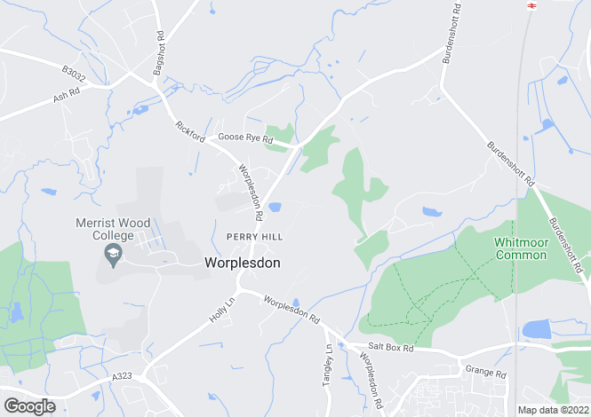 Map for Church Lane, Worplesdon, Guildford, Surrey, GU3
