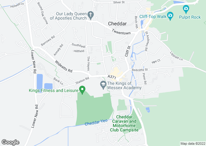 Map for Cheddar