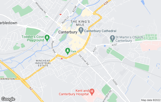 Map for Maxwell White, Canterbury