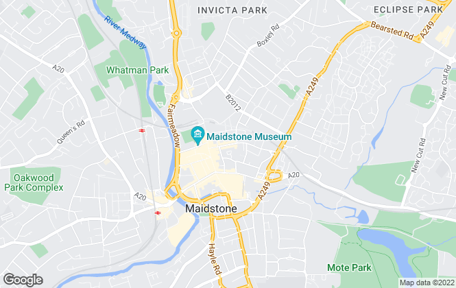 Map for Century 21, Maidstone
