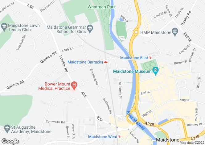 Map for Buckland Hill Maidstone ME16